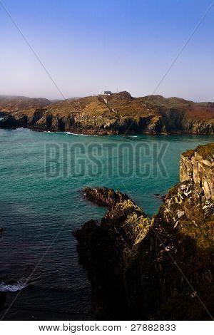 Irish coastline cliff landscape