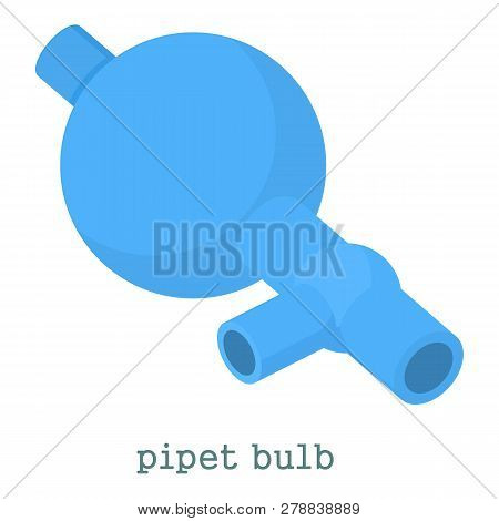 Pipet Bulb Icon. Cartoon Illustration Of Pipet Bulb Icon For Web Isolated On White Background