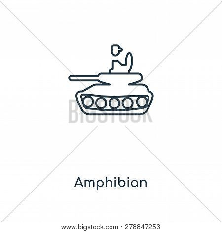 Amphibian Icon In Trendy Design Style. Amphibian Icon Isolated On White Background. Amphibian Vector