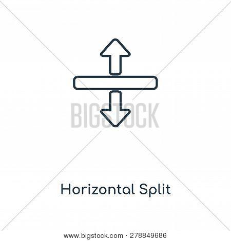 Horizontal Split Icon In Trendy Design Style. Horizontal Split Icon Isolated On White Background. Ho
