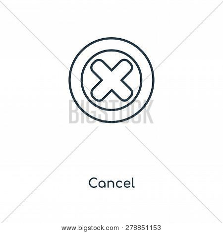 Cancel Icon In Trendy Design Style. Cancel Icon Isolated On White Background. Cancel Vector Icon Sim