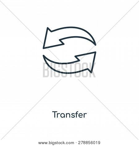 Transfer Icon In Trendy Design Style. Transfer Icon Isolated On White Background. Transfer Vector Ic