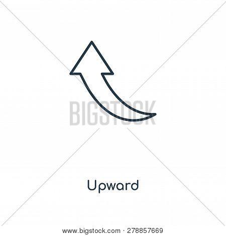 Upward Icon In Trendy Design Style. Upward Icon Isolated On White Background. Upward Vector Icon Sim