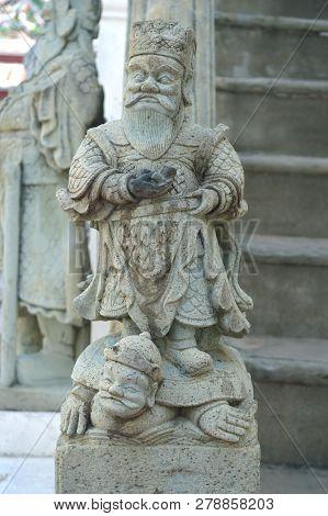 Chinese Stone Doll Statue, Wat Bowonniwet Vihara, Bangkok, Thailand