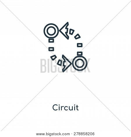 Circuit Icon In Trendy Design Style. Circuit Icon Isolated On White Background. Circuit Vector Icon