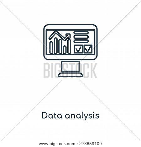 Data Analysis Icon In Trendy Design Style. Data Analysis Icon Isolated On White Background. Data Ana