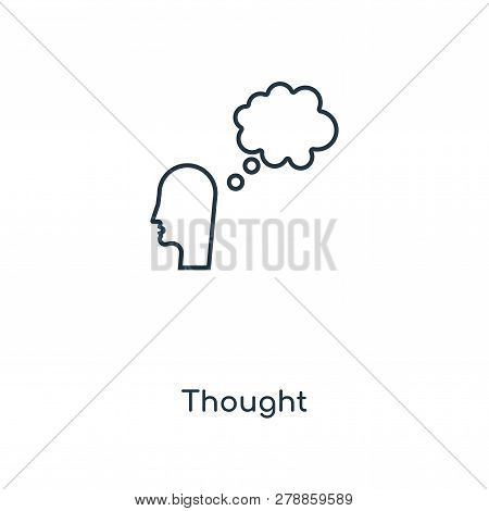 Thought Icon In Trendy Design Style. Thought Icon Isolated On White Background. Thought Vector Icon