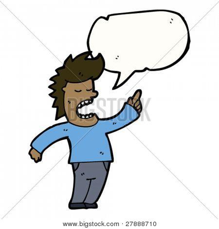 cartoon obnoxious man talking