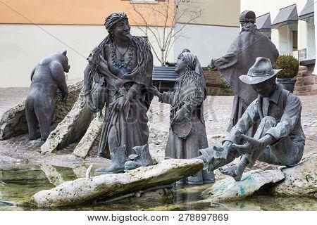 Weil Der Stadt, Germany, Jan 14, 2019: Johannes Keplers Motherland Old German Town Near Stuttgart. C