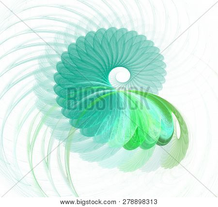 Abstract Fractal Element In Rotational Motion For Your Design.