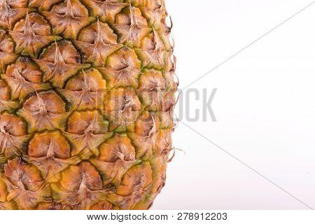 Pineapple Texture. Pineapple Close Up. Pineapple Skin