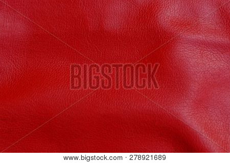 Red Leather Texture From Old Book Cover