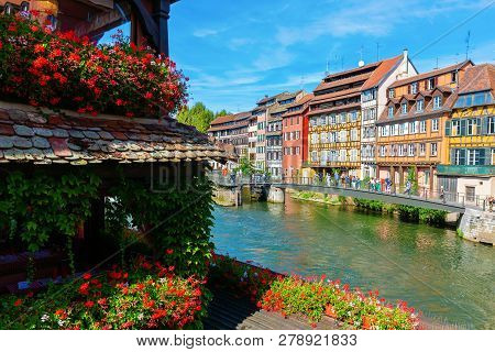 View Of The Quarter La Petite France In Strasbourg, France