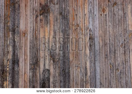 Gray Brown Wooden Texture From A Row Of Planks In A Fence Wall