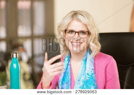 Pretty Woman Using Smart Phone