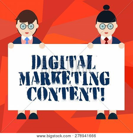 Word Writing Text Digital Marketing Content. Business Concept For Distributing Content For Targeted