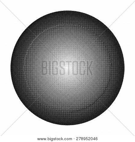 Circle Halftone. Halftone Dot Pattern. Monochrome Halftone. Vector Illustration.