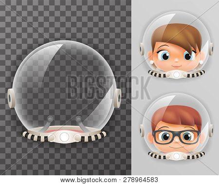 Retro Cosmonaut Helmet Realistic 3d Astronaut Spaceman Boy Girl Tantamareska Transperent Class Desig