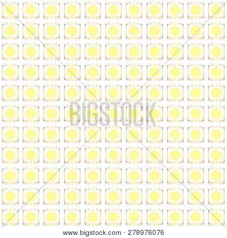 Set Of Typical Led Switch On Seamless Pattern. Vector Illustration Isolated On White Background
