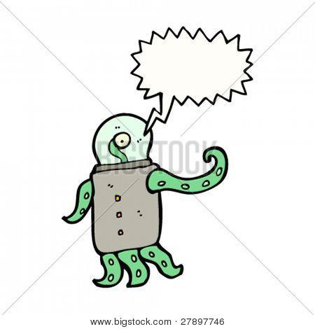 weird space alien cartoon