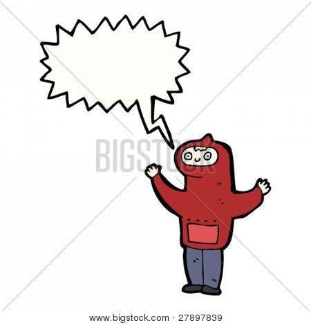 cartoon teen in hoody