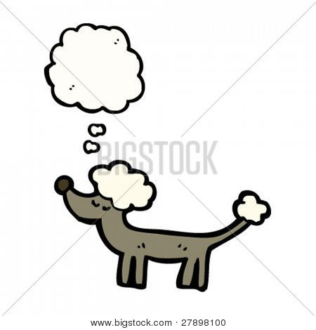 well behaved cartoon poodle