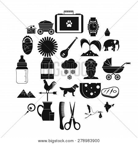 Rural Economy Icons Set. Simple Set Of 25 Rural Economy Vector Icons For Web Isolated On White Backg