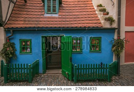 Colorful And Cosy Zlata Ulicka - Golden Lane, One Of The Most Attactive Place For Tourists In Old To