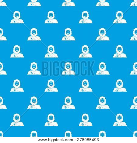 Neanderthal Pattern Vector Seamless Blue Repeat For Any Use