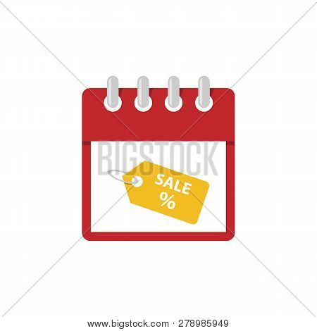 Calendar Final Sale Icon. Isometric Of Calendar Final Sale Vector Icon For Web Design Isolated On Wh