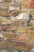 Photo taken of a rock wall to illustrate textures. poster