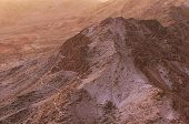 Aerial view of Mount Sinai (Mount Horeb, Gabal Musa, Moses Mount) during sunrise. Sinai Peninsula of Egypt. Pilgrimage place and famous touristic destination. poster
