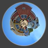 Panoramic 360 degree shot of the Oxnard harbor houses poster