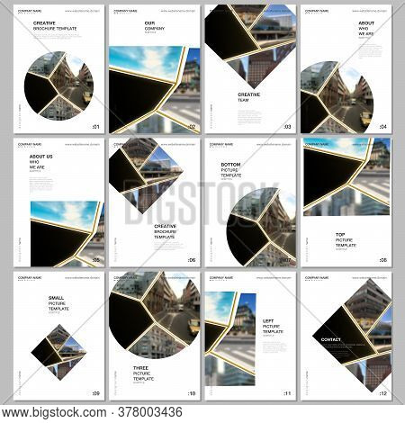A4 Brochure Layout Of Covers Design Templates For Flyer Leaflet, A4 Brochure Design, Presentation, B