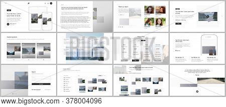 Bundle Of Editable Business Templates For Digital App, Web Products. Vector Templates For Website De