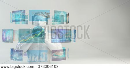 Technology Trends and Trending Current Data News Concept 3d Render