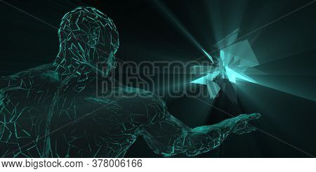 Drug Discovery Services and Virtual Reality Technology Concept 3d Render