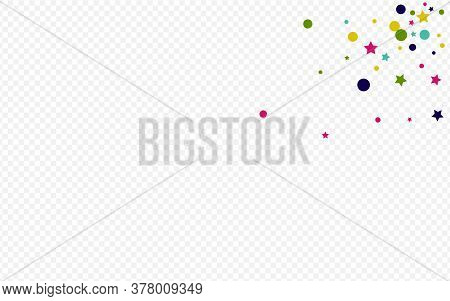 Green Dot Carnaval Transparent Background. Decoration Confetti Backdrop. Christmas Splash Card. Colo