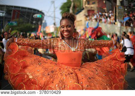 Salvador, Bahia / Brazil - January 24, 2016: Member Of The Rancho Do Boi Cultural Group Of Folklore