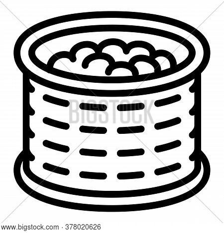 Peanut Tin Can Icon. Outline Peanut Tin Can Vector Icon For Web Design Isolated On White Background