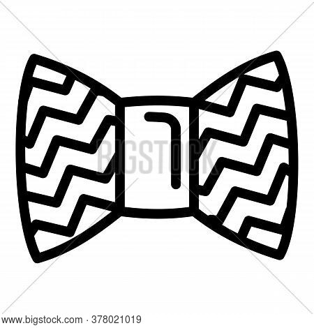 Bow Tie Icon. Outline Yellow Bow Tie Vector Icon For Web Design Isolated On White Background