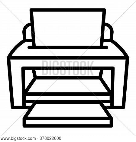 Ink Jet Printer Icon. Outline Ink Jet Printer Vector Icon For Web Design Isolated On White Backgroun