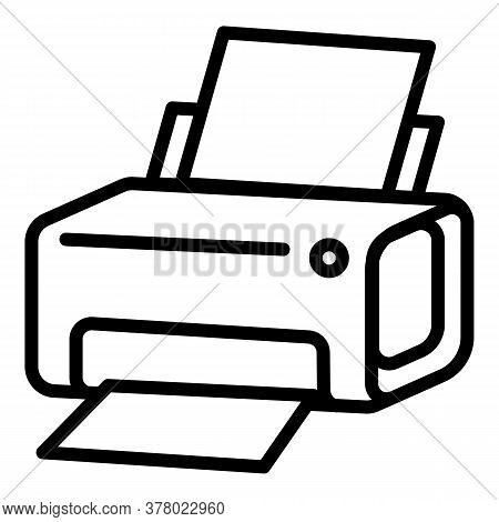 Laser Printer Icon. Outline Laser Printer Vector Icon For Web Design Isolated On White Background