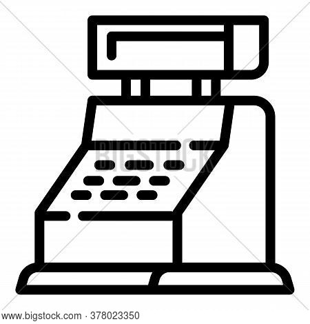 Cashier Icon. Outline Cashier Vector Icon For Web Design Isolated On White Background