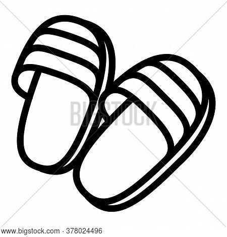 Home Slippers Icon. Outline Home Slippers Vector Icon For Web Design Isolated On White Background