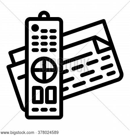 Pension Paper Icon. Outline Pension Paper Vector Icon For Web Design Isolated On White Background