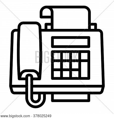 Digital Fax Icon. Outline Digital Fax Vector Icon For Web Design Isolated On White Background