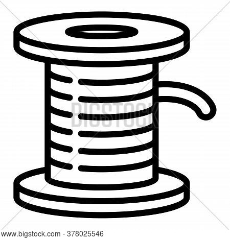 Wood Coil Icon. Outline Wood Coil Vector Icon For Web Design Isolated On White Background