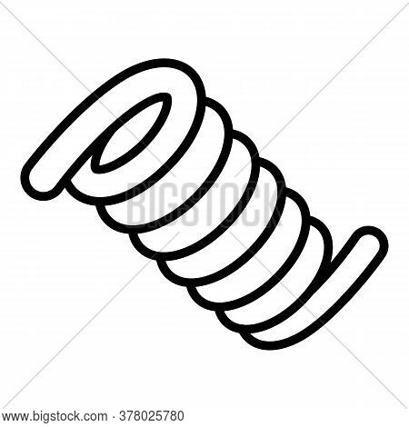 Jump Coil Icon. Outline Jump Coil Vector Icon For Web Design Isolated On White Background