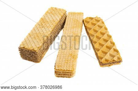 Waffles Dessert Snack Isolated On White Background
